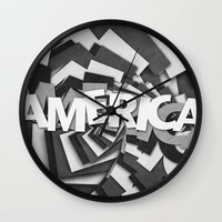 america Wall Clocks featuring America by politics