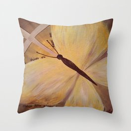 Butterfly Cross Easter Throw Pillow