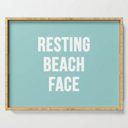 Resting Beach Face Serving Tray