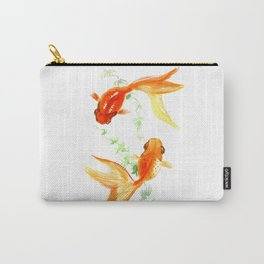 Goldfish, Feng Shui Asian Watercolor Carry-All Pouch