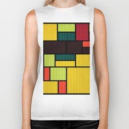 Mondrian Bauhaus Pattern #09 Biker Tank