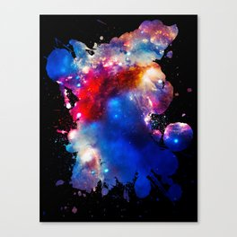 Colorful Cosmos Splatter Canvas Print