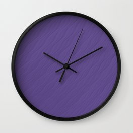 Ultra Violet Wave Pattern Trendy Color 2018 Wall Clock