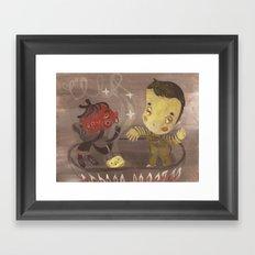 salsa de tomate Framed Art Print