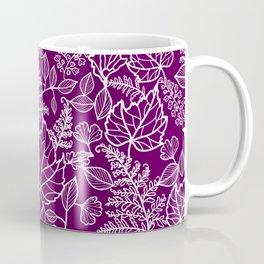 Plum Maple Leaves Coffee Mug