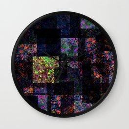 Acid flower collage Wall Clock