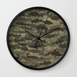Fresh water fish camouflage Wall Clock