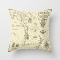 world maps Throw Pillows featuring Old Maps by tanduksapi