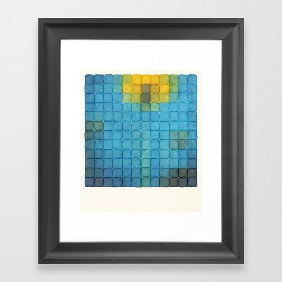 Polaroid Pixels I (Flower) Framed Art Print