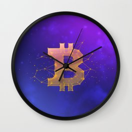 BITCOIN Galaxy Wall Clock
