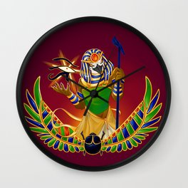 Ra the Sun God Wall Clock
