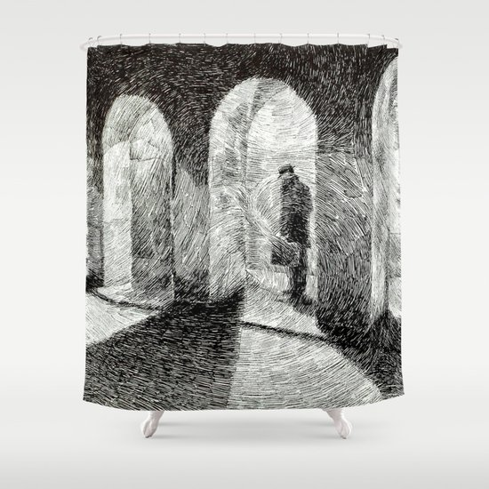 Fingerprint - Arcades Shower Curtain