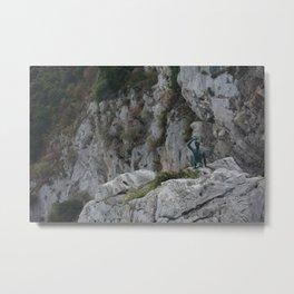 The Statue of the Scugnizzo Metal Print