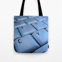 computer Tote Bags featuring computer by laika in cosmos