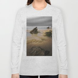 Fistral Beach, Newquay, Cornwall, England United Kingdom Long Sleeve T-shirt