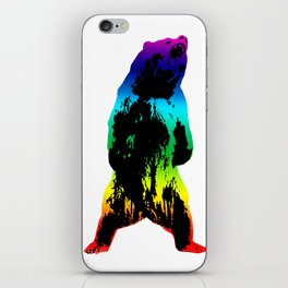 Rainbow Bear iPhone Skin