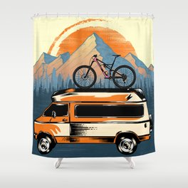 Ride Shower Curtain