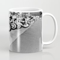 bikes Mugs featuring Bikes by M. Gold Photography
