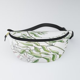 Jasmine Flower Illustration Fanny Pack