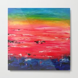 Crimson Sunset Metal Print