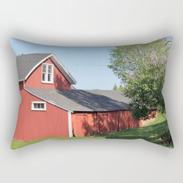 Red Barns Rectangular Pillow