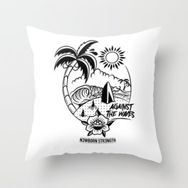 Against the Waves Throw Pillow
