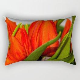 Orange tulips Rectangular Pillow
