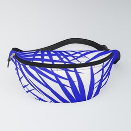tropical leaves blue Fanny Pack