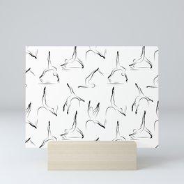 pilates pattern1 Mini Art Print