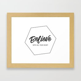 Inspiring Gift Ideas for Entrepreneurs #4 - Black on White Framed Art Print
