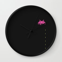 Space ship Invaders Retro Wall Clock