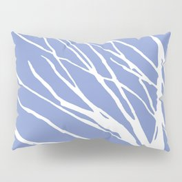 Tree Silhouette Periwinkle Blues Pillow Sham