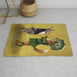 Fox and Hare Rug