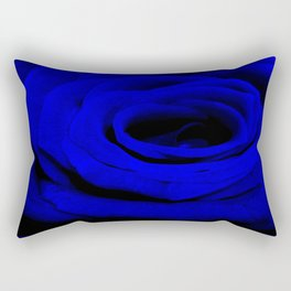 Expansion Blue rose flower Rectangular Pillow