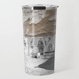 LISBON COURTYARD IN ALFAMA Travel Mug