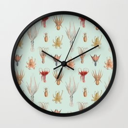 Vintage Mollusks Wall Clock