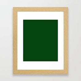 Dark green Framed Art Print