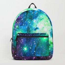 Fox Fur Nebula BRIGHT : Green Blue Purple Galaxy Backpack