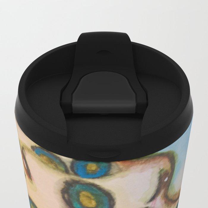 Blue Ring Octopus Metal Travel Mug