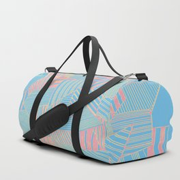 Abstract crystal in blue and pink Duffle Bag