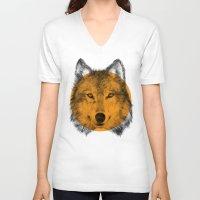 eric fan V-neck T-shirts featuring Wild 7 by Eric Fan & Garima Dhawan by Garima Dhawan
