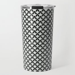 Phillip Gallant Media Design - Black Star Cirles on White Travel Mug
