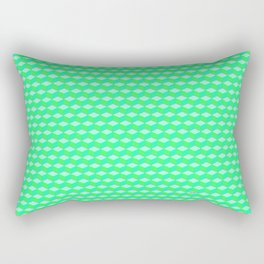 Lime Cube Tiles Rectangular Pillow