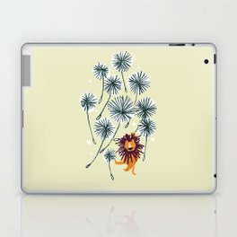 Lion on dandelion Laptop & iPad Skin