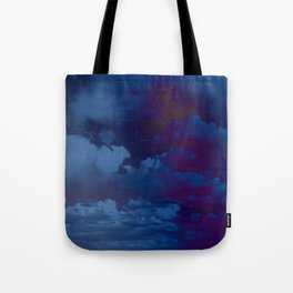 Clouds in a Stormy Blue Midnight Sky Tote Bag
