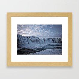 Waterfall Iceland Framed Art Print
