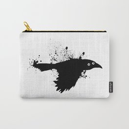 black crow flying ink Carry-All Pouch