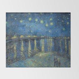 STARRY NIGHT OVER RHONE - VAN GOGH Throw Blanket
