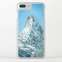 Matterhorn winter view Clear iPhone Case