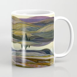 Canadian Landscape Franklin Carmichael Art Nouveau Post-Impressionism Mirror Lake Coffee Mug